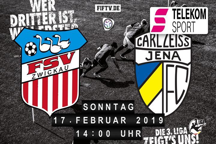 FSV Zwickau - Carl Zeiss Jena Spielankündigung