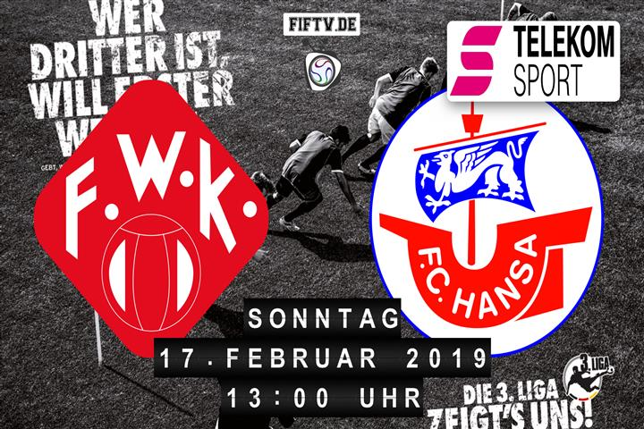 Würzburger Kickers - Hansa Rostock Spielankündigung