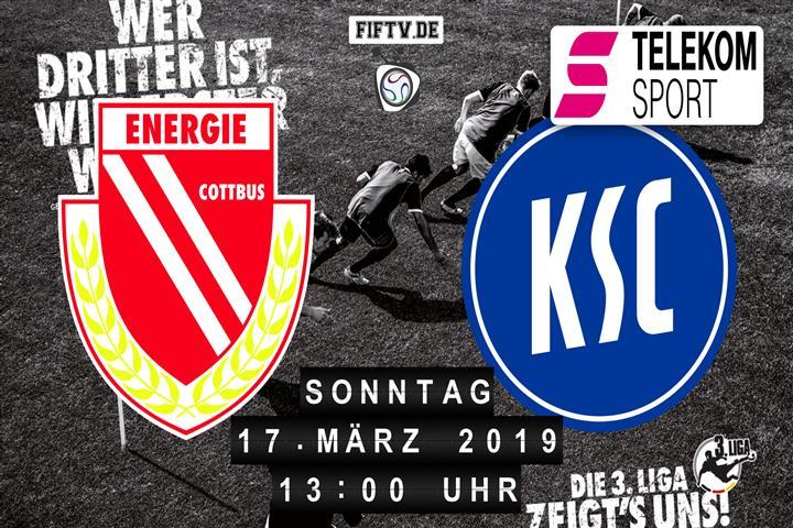 Energie Cottbus - Karlsruher SC Spielankündigung
