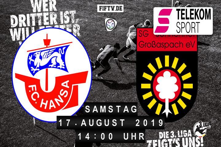 Hansa Rostock - Sonnenhof Großaspach Spielankündigung