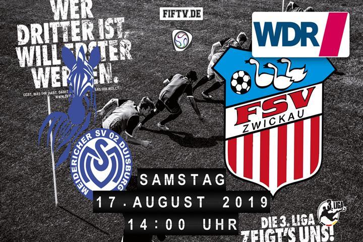 MSV Duisburg - FSV Zwickau Spielankündigung