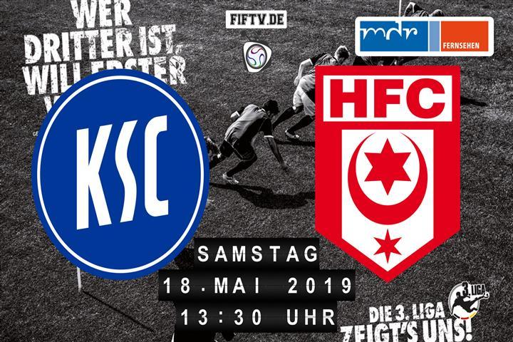Karlsruher SC - Hallescher FC Spielankündigung