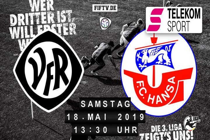 VfR Aalen - Hansa Rostock Spielankündigung