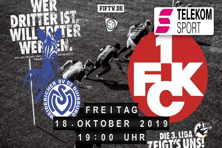 MSV Duisburg - 1.FC Kaiserslautern Spielankündigung