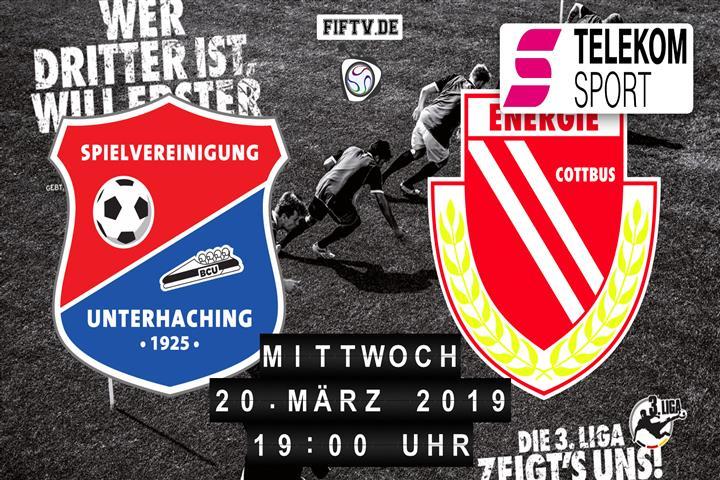 SpVgg Unterhaching - Energie Cottbus Spielankündigung