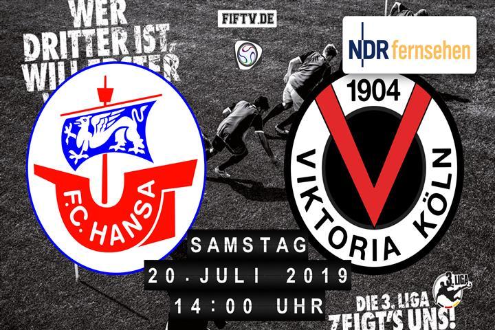 Hansa Rostock - Viktoria Köln Spielankündigung