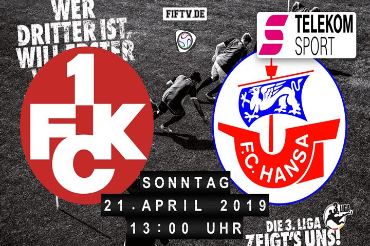 1.FC Kaiserslautern - Hansa Rostock Spielankündigung