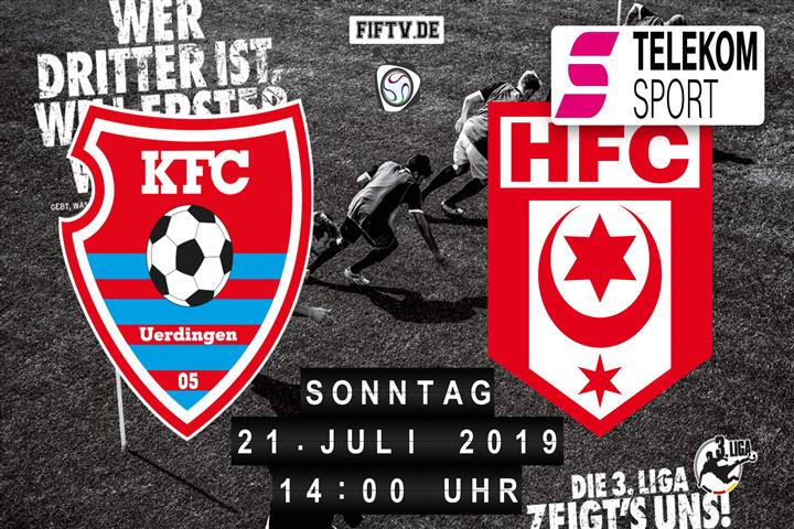 KFC Uerdingen 05 - Hallescher FC Spielankündigung