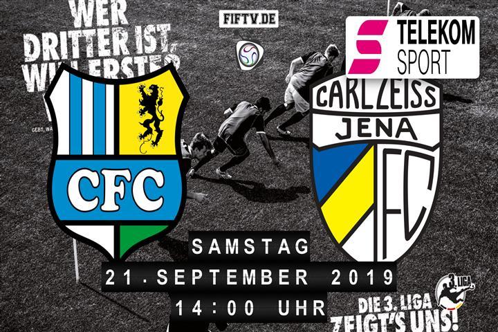 Chemnitzer FC - Carl Zeiss Jena Spielankündigung