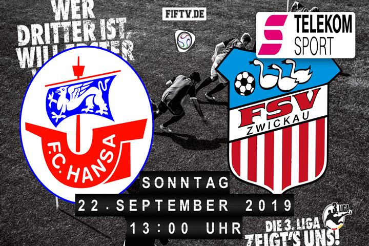 Hansa Rostock - FSV Zwickau Spielankündigung