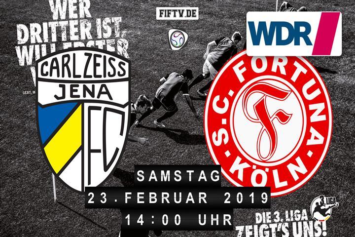 Carl Zeiss Jena - Fortuna Köln Spielankündigung