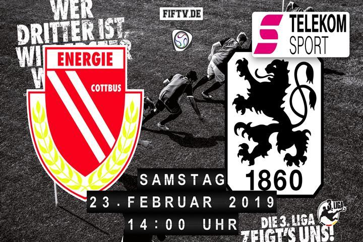 Energie Cottbus - TSV 1860 München Spielankündigung