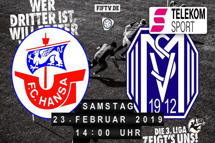 Hansa Rostock - SV Meppen Spielankündigung