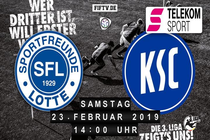 Sportfreunde Lotte - Karlsruher SC Spielankündigung