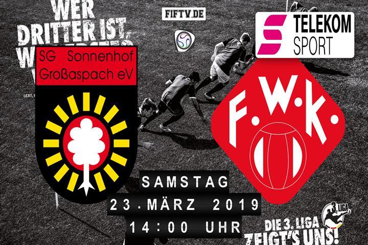 Sonnenhof Großaspach - Würzburger Kickers Spielankündigung