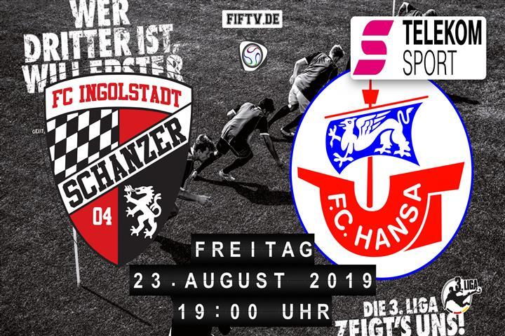 FC Ingolstadt - Hansa Rostock Spielankündigung
