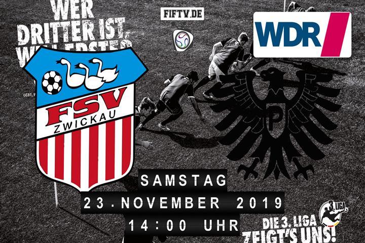 FSV Zwickau - Preussen Münster Spielankündigung