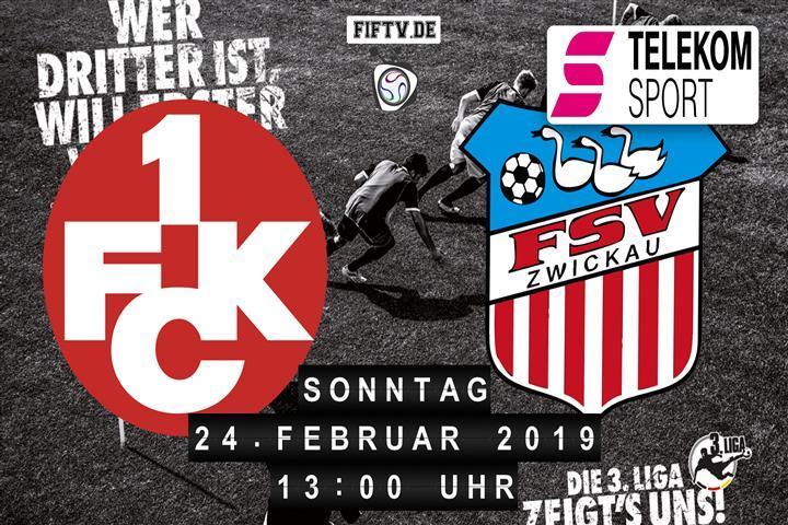 1.FC Kaiserslautern - FSV Zwickau Spielankündigung