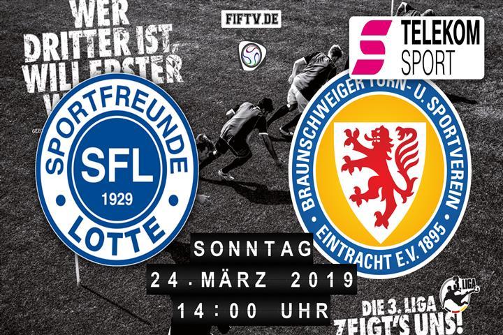Sportfreunde Lotte - Eintracht Braunschweig Spielankündigung