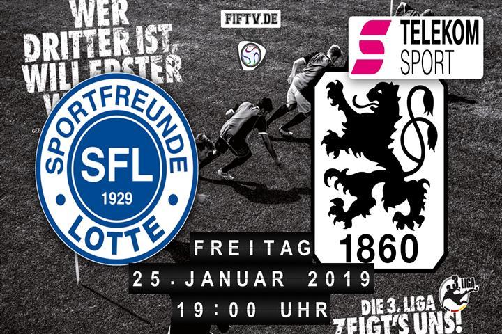 Sportfreunde Lotte - TSV 1860 München Spielankündigung