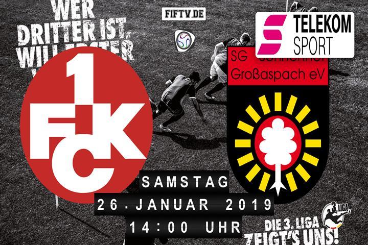 1.FC Kaiserslautern - Sonnenhof Großaspach Spielankündigung