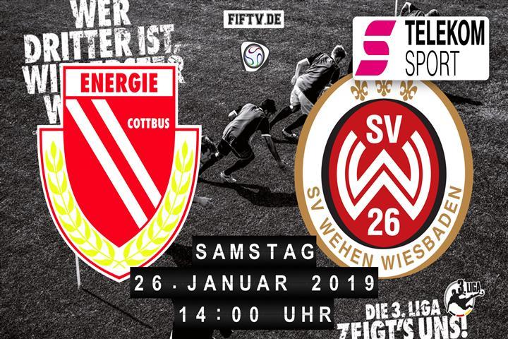 Energie Cottbus - SV Wehen Wiesbaden Spielankündigung