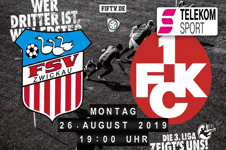 FSV Zwickau - 1.FC Kaiserslautern Spielankündigung