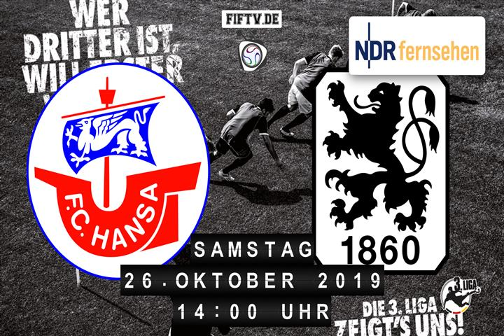 Hansa Rostock - TSV 1860 München Spielankündigung