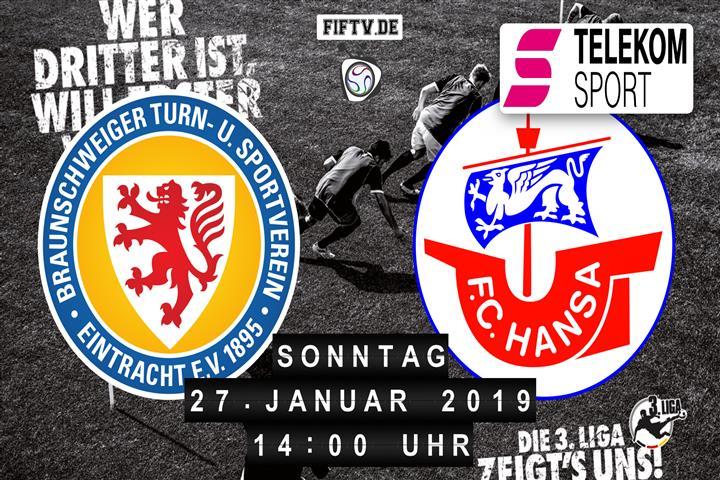 Eintracht Braunschweig - Hansa Rostock Spielankündigung