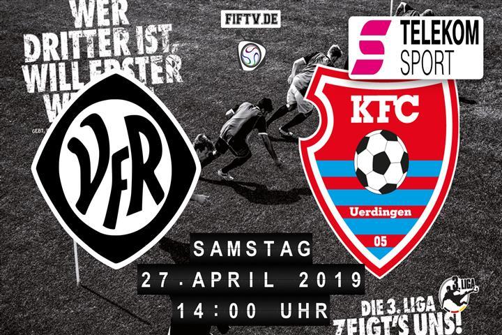 VfR Aalen - KFC Uerdingen 05 Spielankündigung
