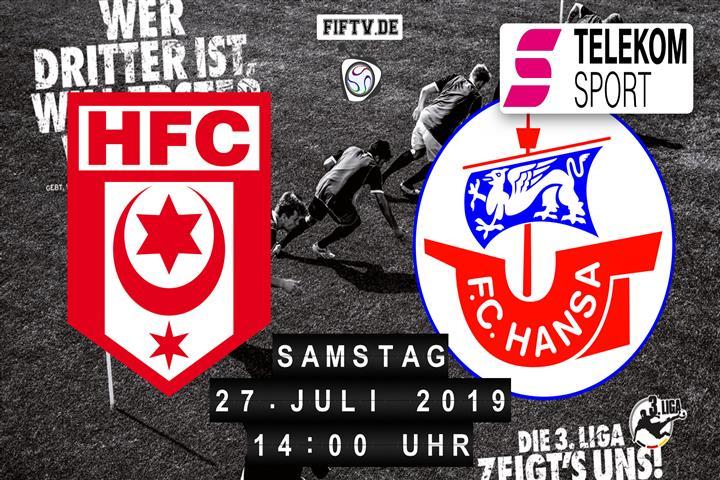 Hallescher FC - Hansa Rostock Spielankündigung