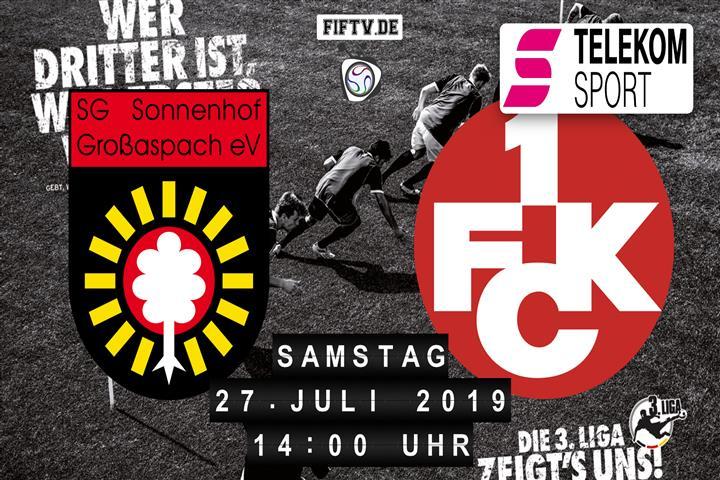 Sonnenhof Großaspach - 1.FC Kaiserslautern Spielankündigung