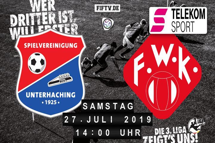 SpVgg Unterhaching - Würzburger Kickers Spielankündigung