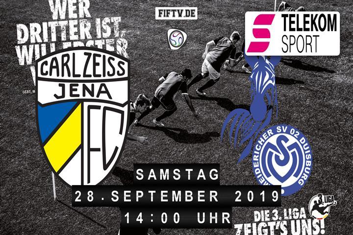 Carl Zeiss Jena - MSV Duisburg Spielankündigung