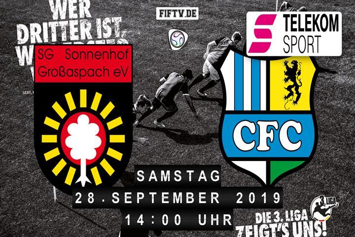 Sonnenhof Großaspach - Chemnitzer FC Spielankündigung