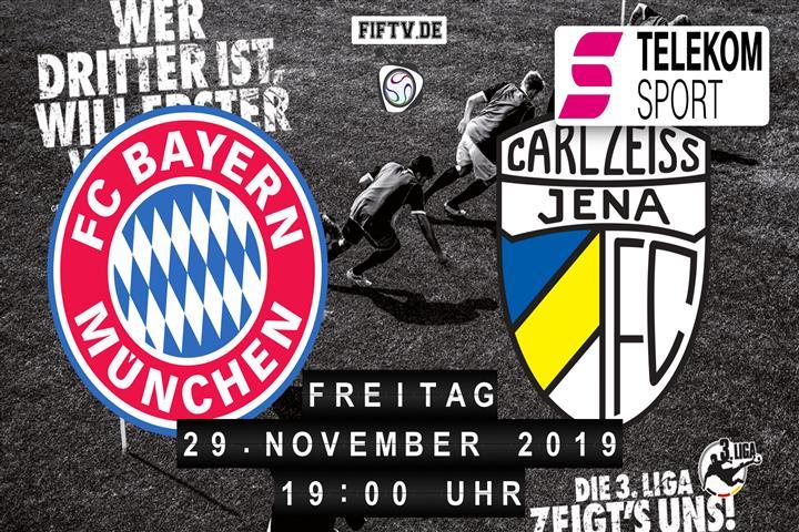 Bayern München II - Carl Zeiss Jena Spielankündigung