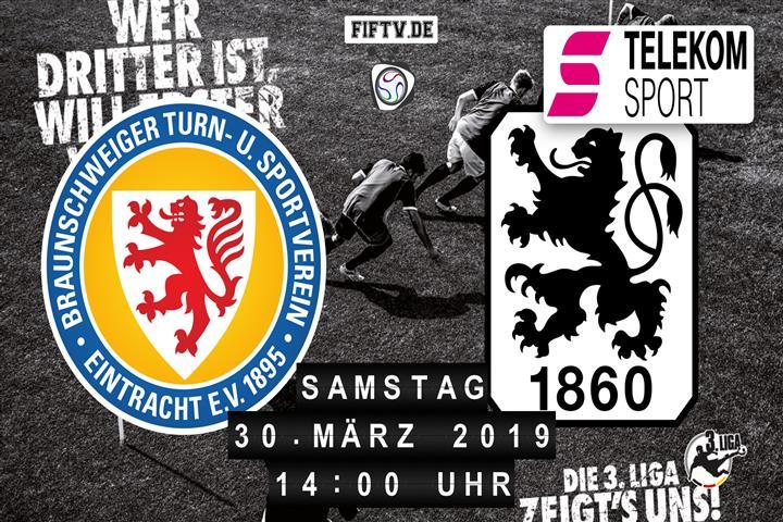 Eintracht Braunschweig - TSV 1860 München Spielankündigung