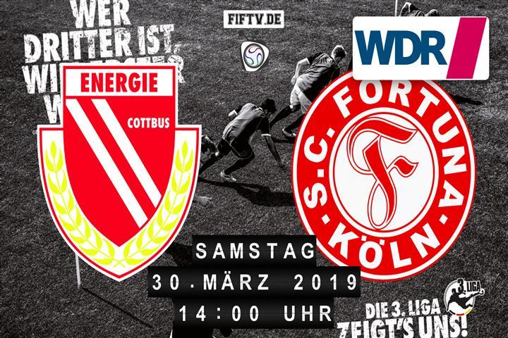 Energie Cottbus - Fortuna Köln Spielankündigung