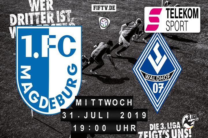 1.FC Magdeburg - SV Waldhof Mannheim Spielankündigung