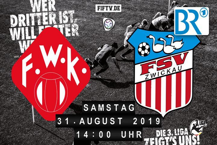 Würzburger Kickers - FSV Zwickau Spielankündigung