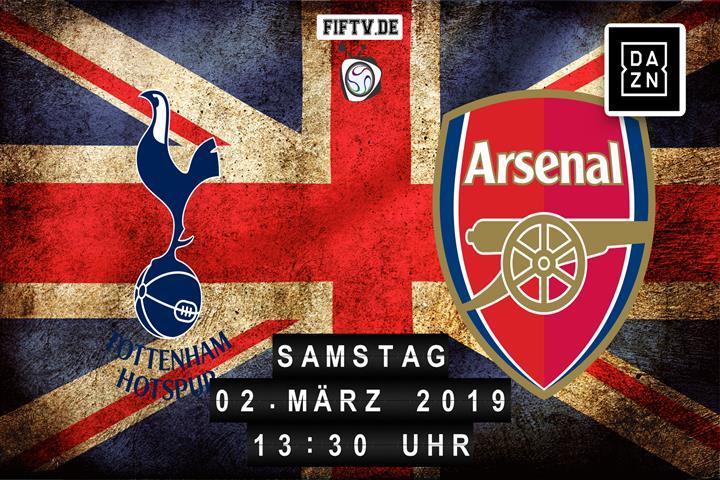 Tottenham Hotspur - Arsenal London Spielankündigung