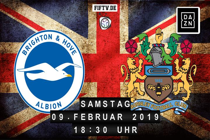 Brighton & Hove Albion - Burnley FC Spielankündigung