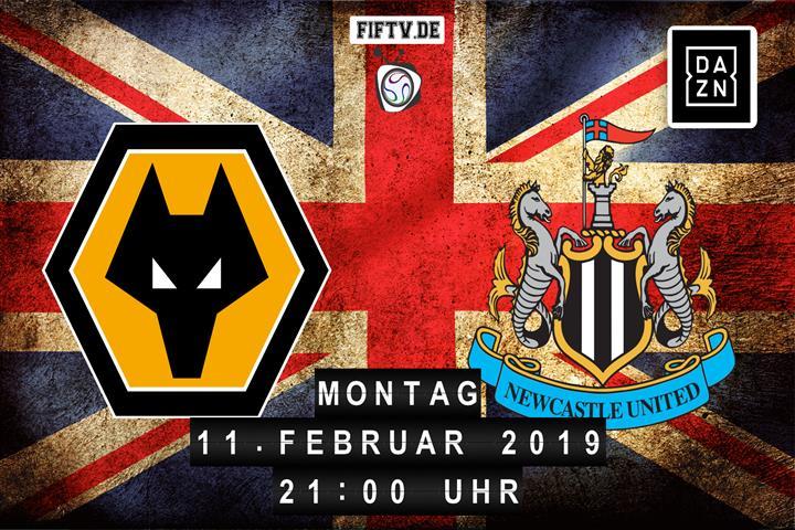 Wolverhampton Wanderers - Newcastle United Spielankündigung