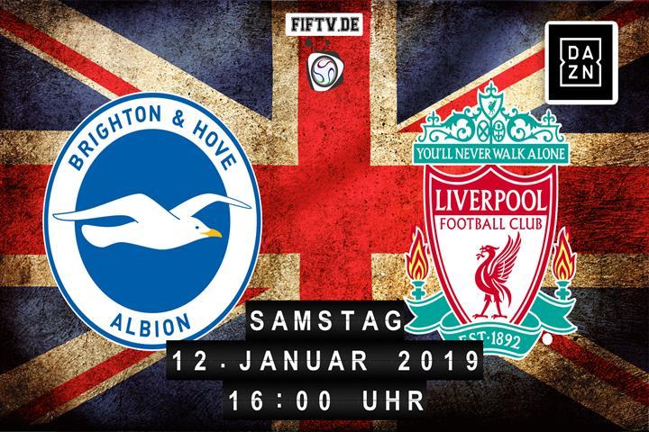 Brighton & Hove Albion - FC Liverpool Spielankündigung