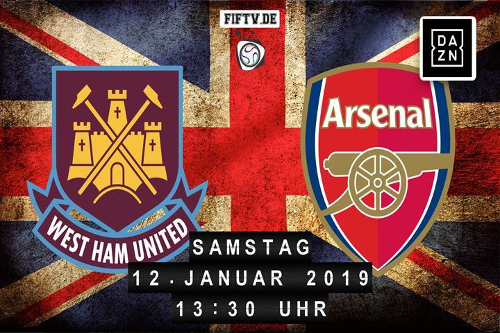 West Ham United - Arsenal London Spielankündigung