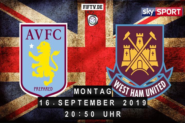 Aston Villa - West Ham United Spielankündigung