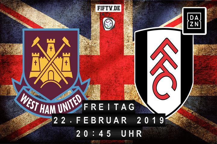 West Ham United - FC Fulham Spielankündigung
