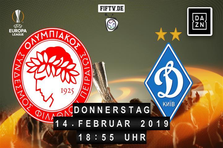 Olympiakos Piräus - Dynamo Kiew Spielankündigung