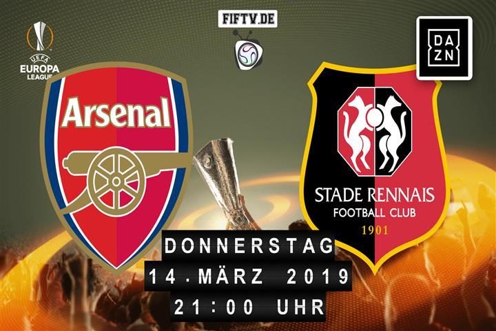 Arsenal London - Stade Rennes Spielankündigung