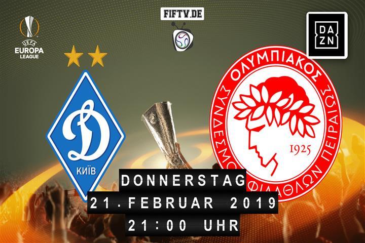 Dynamo Kiew - Olympiakos Piräus Spielankündigung